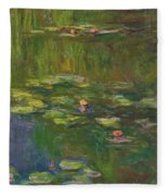 The Water Lily Pond Fleece Blanket