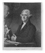 Thomas Jefferson Fleece Blanket