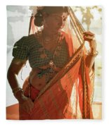 Tribal Beauty Of India Fleece Blanket