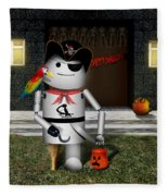 Trick Or Treat Time For Robo-x9 Fleece Blanket