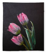 3 Tulips Fleece Blanket
