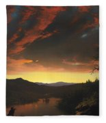 Twilight In The Wilderness Fleece Blanket