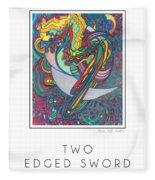 Two Edged Sword Fleece Blanket