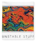 Unstable Stuff Fleece Blanket