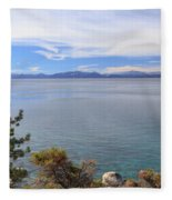 View Across Lake Tahoe Fleece Blanket