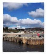 View From The Cobb - Lyme Regis Fleece Blanket