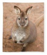 Wallaby Outside By Itself Fleece Blanket