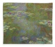 Water Lily Pond Fleece Blanket