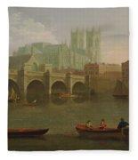 Westminster Abbey And Bridge Fleece Blanket