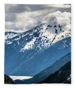 White Pass Mountains In British Columbia Fleece Blanket