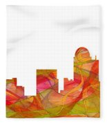 Winston-salem North Carolina Skyline Fleece Blanket