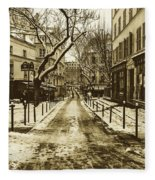 Winter In Paris Fleece Blanket