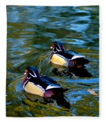 Wood Duck Fleece Blanket