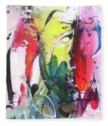 Abstract Landscape Painting Fleece Blanket