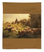 Weber Gottlieb Daniel Paul Near Obersdorf Bavaria Gottlieb Daniel Paul Weber Fleece Blanket