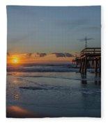 32nd Street Pier Avalon Nj - Sunrise Fleece Blanket