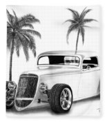 33 Ford Coupe Fleece Blanket