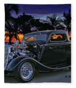 33 Ford On The Mexico Beach Fleece Blanket