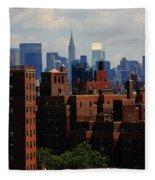 New York City Skyline 3 Fleece Blanket