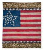 33 Star American Flag. Painting Of Antique Design Fleece Blanket