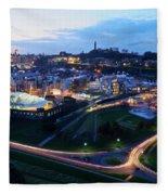 Edinburgh, Scotland Fleece Blanket