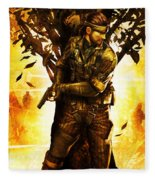 Metal Gear Fleece Blanket