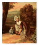 Walton Henry A Country Maid Henry Walton Fleece Blanket
