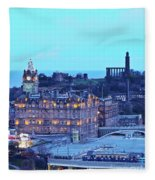 Edinburgh, Scotland Fleece Blanket