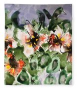 Divine Blooms Fleece Blanket