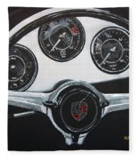 356 Porsche Dash Fleece Blanket