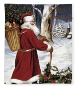 American Christmas Card Fleece Blanket