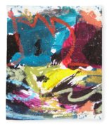 Abstract Expressionsim Art Fleece Blanket