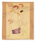 38027 Egon Schiele Fleece Blanket