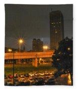 3am Lightning Storm Fleece Blanket