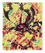 3d Color Dragon Fleece Blanket