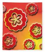 3d Digital Flowers Fleece Blanket