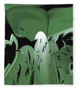3d Green Abstract Fleece Blanket