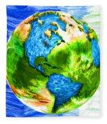 3d Render Of Planet Earth 11 Fleece Blanket