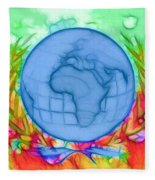 3d Render Of Planet Earth 17 Fleece Blanket