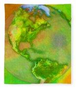 3d Render Of Planet Earth Fleece Blanket