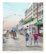 3rd Street Ocean City Md Fleece Blanket