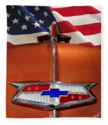 1954 Chevrolet Hood Emblem Fleece Blanket