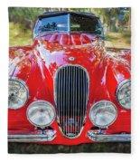 1954 Jaguar Xk 120 Se Ots  Fleece Blanket
