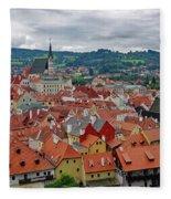 A View Of Cesky Krumlov In The Czech Republic Fleece Blanket