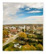Aerial View Over White Rose City York Soth Carolina Fleece Blanket