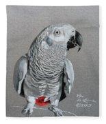 African Grey Parrot Fleece Blanket