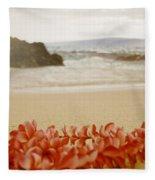 Aloha Lei Maui Hawaii Fleece Blanket