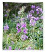 Alpine Wildflower Fleece Blanket