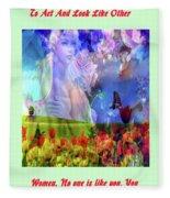 Angel In A Field Fleece Blanket