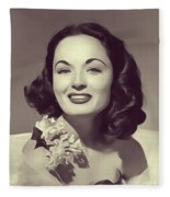 Ann Blyth, Vintage Actress Fleece Blanket